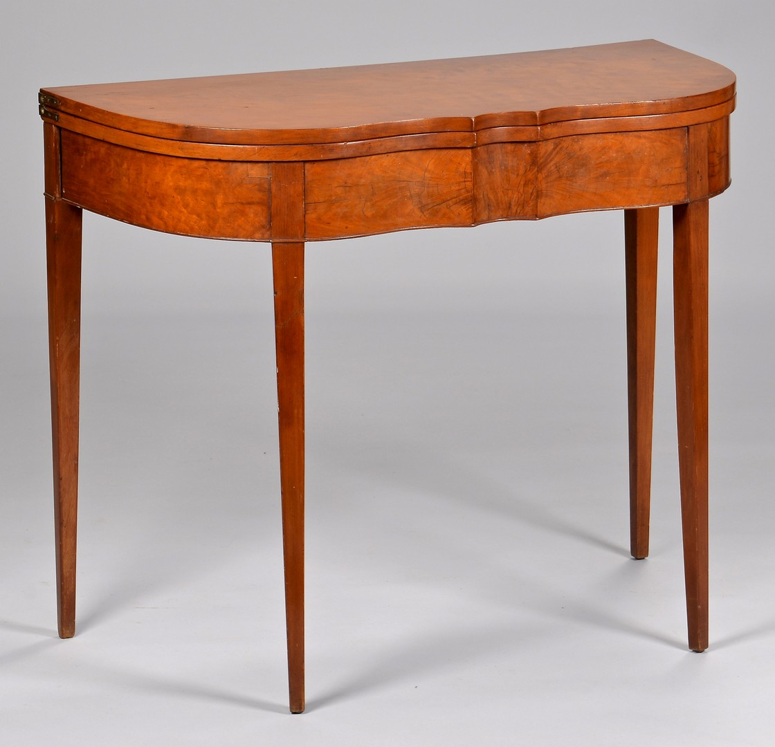 Lot 126: KY cherry card table, attr. Porter Clay