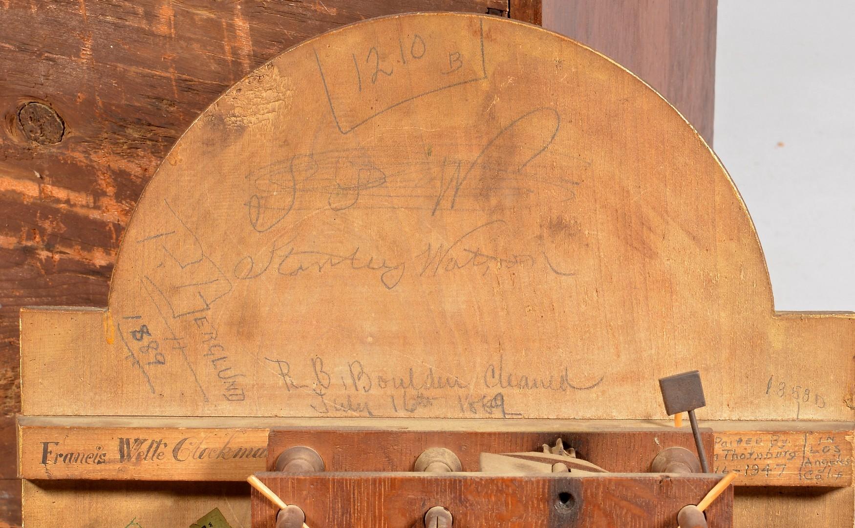 Lot 128: KY History Tall Case Clock, Luman Watson Dial