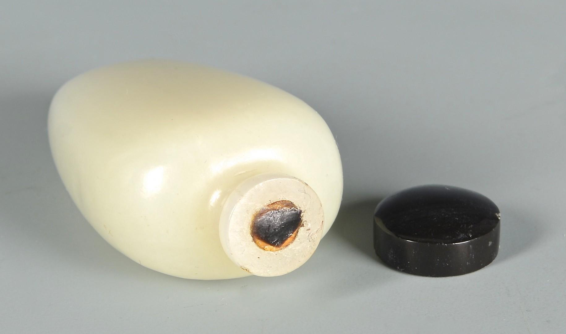 Lot 12: Qing White Jade Snuff Bottle