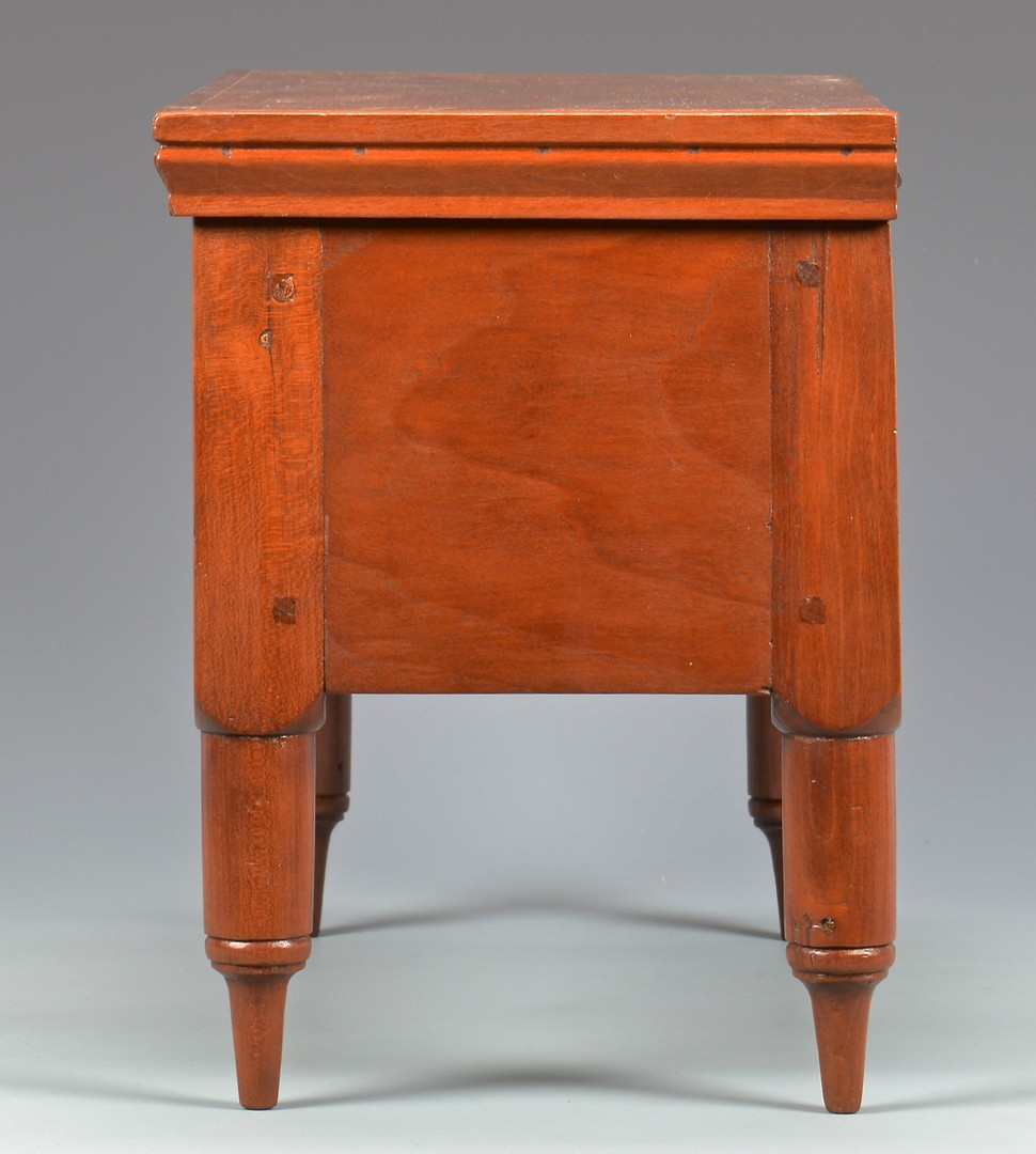 Lot 130: Miniature Middle TN Cherry Box, Turned Feet