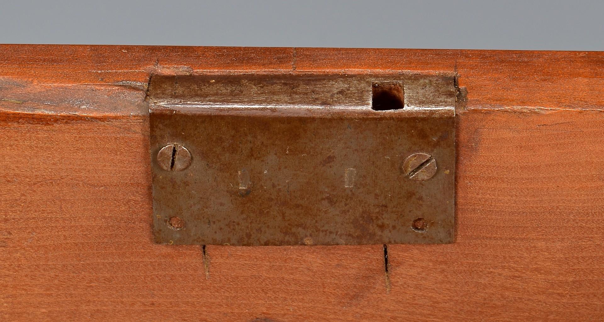 Lot 130: Miniature Middle TN Cherry Box, Turned Feet