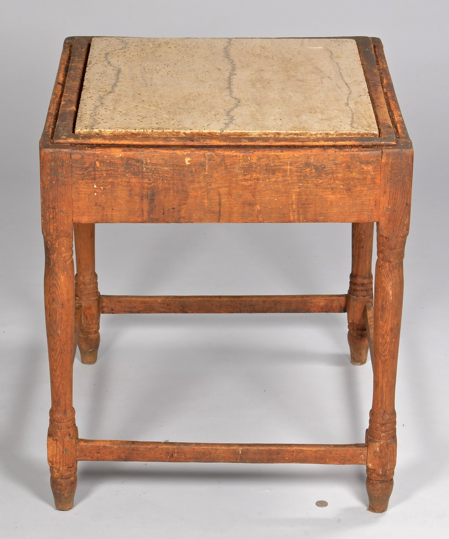 Lot 132: Knox Co. TN Biscuit Table, Yellow Pine