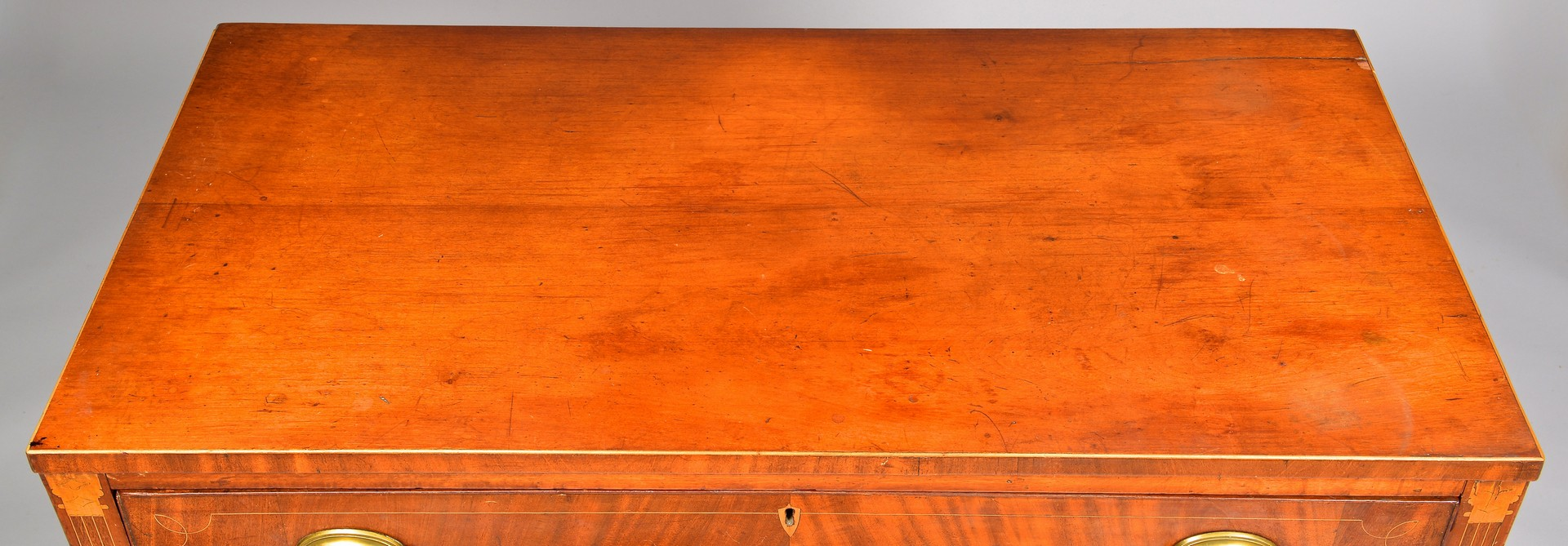Lot 133: East TN Federal Inlaid Chest of Drawers