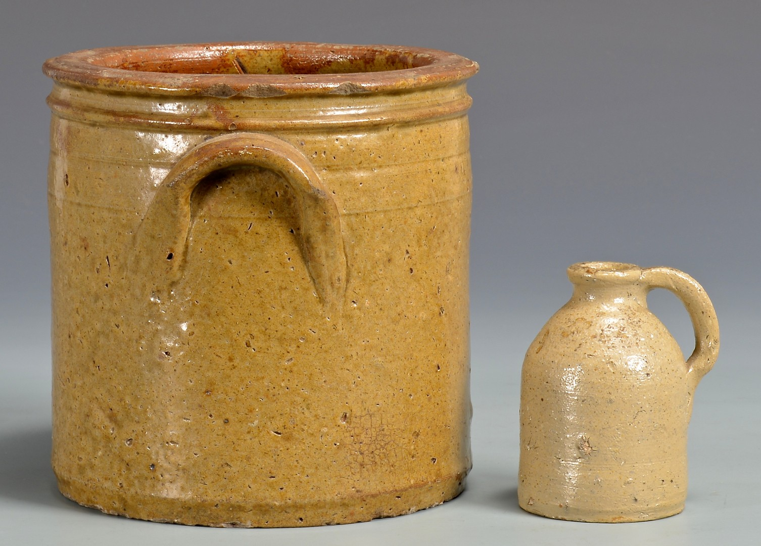 Lot 137: East TN Grindstaff Pottery, incl. Miniature