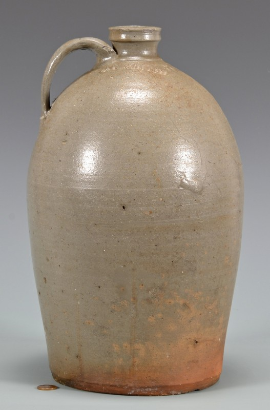 Lot 138: East TN Stoneware Jug, D. L. Smith