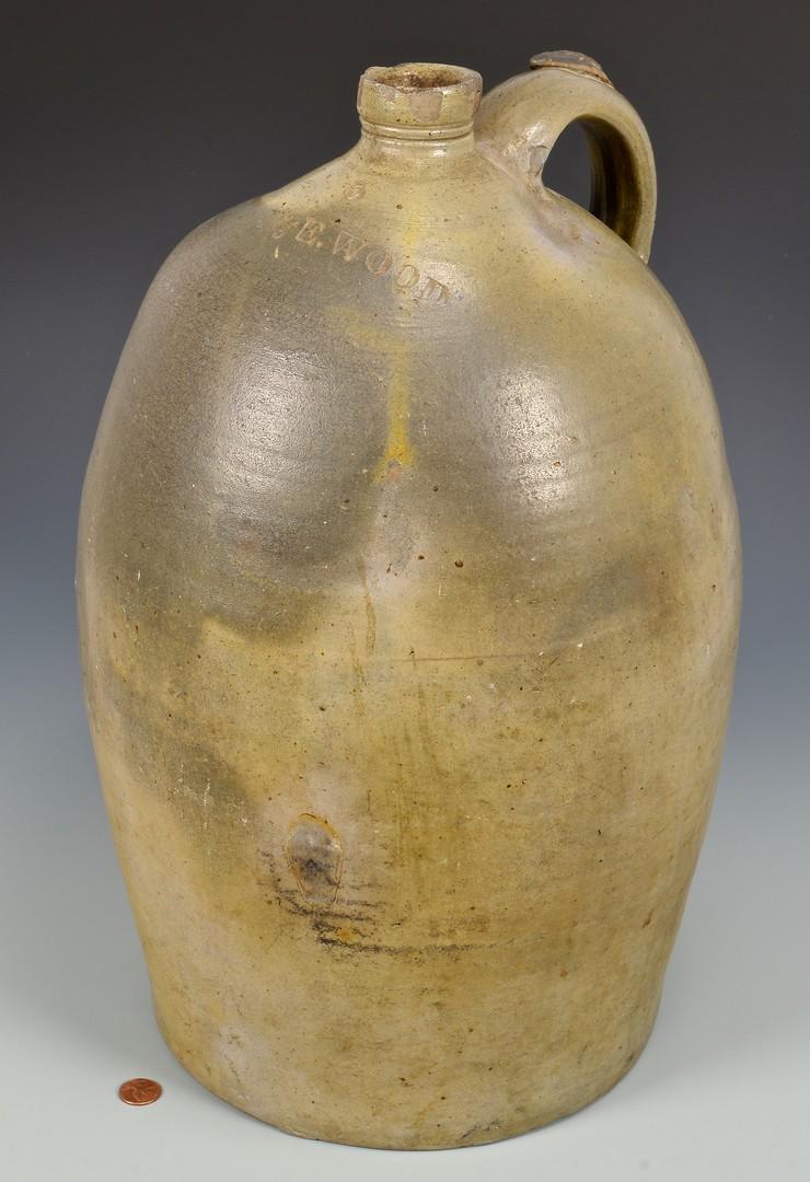 Lot 141: Large J. & E. Woods KY Stoneware Jug