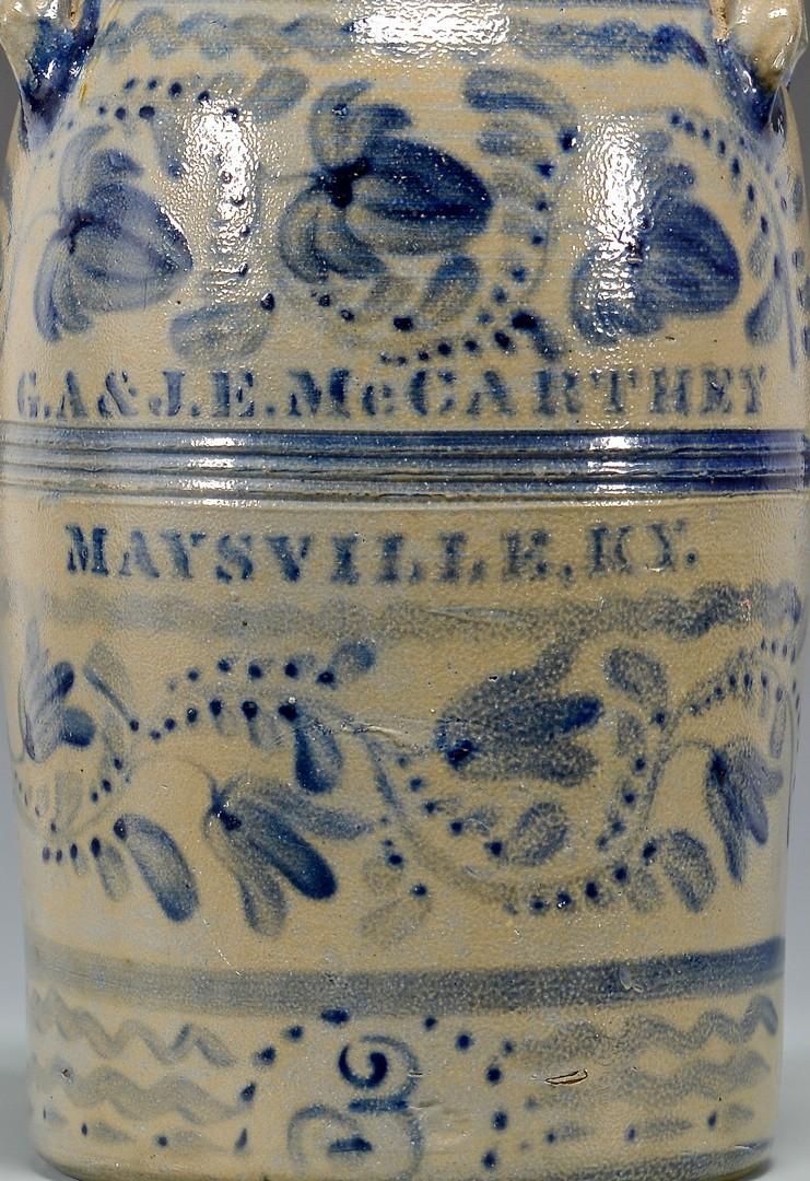 Lot 142: G.A. & J. E. McCarthey Maysville, KY Cobalt Decora
