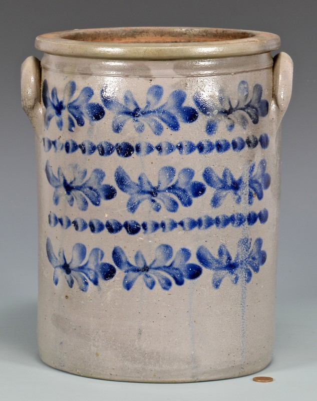 Lot 143: KY Cobalt Decorated Jar attrib. J. H. Miller
