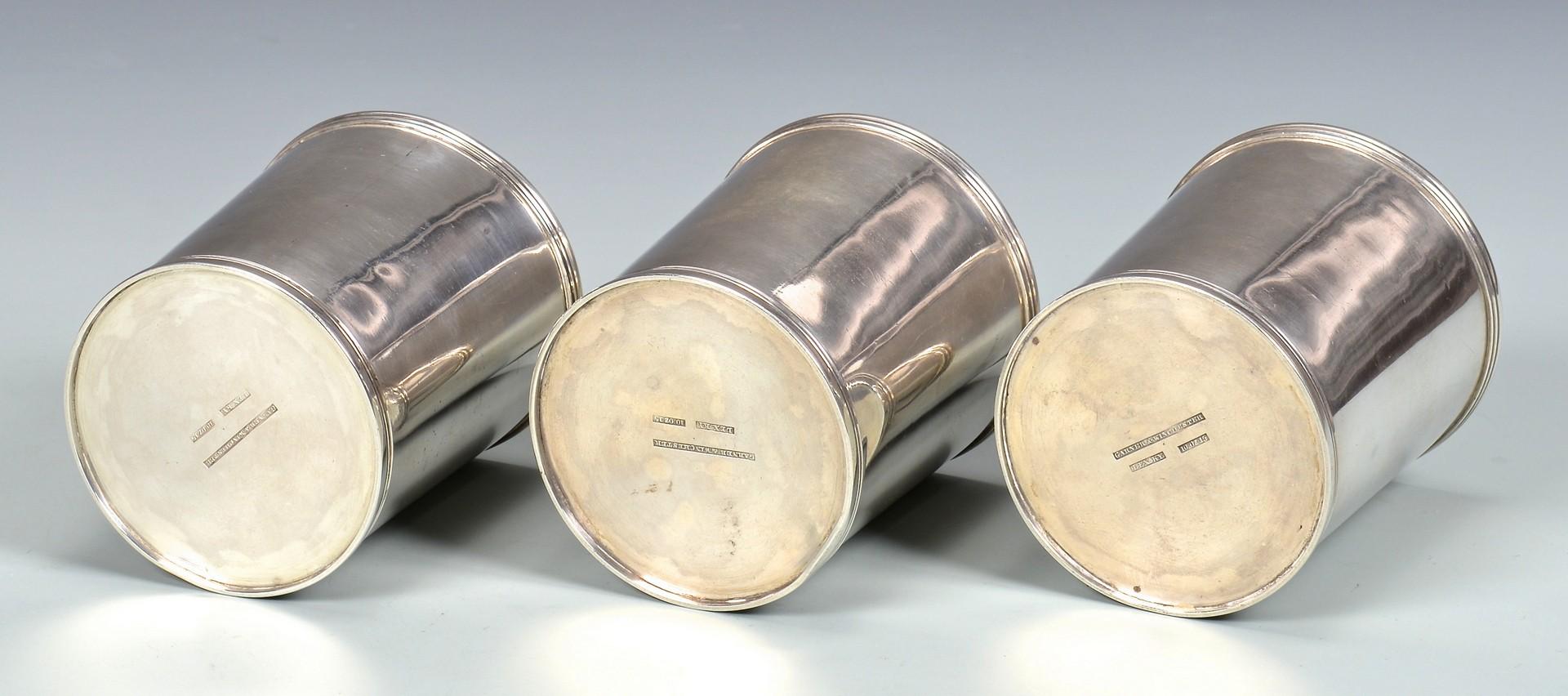 Lot 148: 3 Garner & Winchester Julep Cups