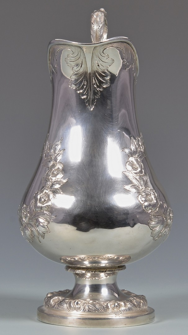 Lot 149: Lexington Ky Coin Silver Water Pitcher