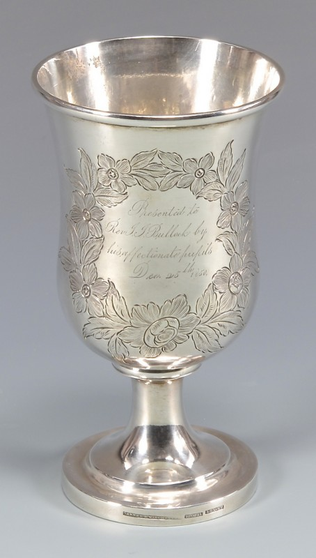 Lot 150: KY Coin Silver Presentation Chalice, Garner and Wi