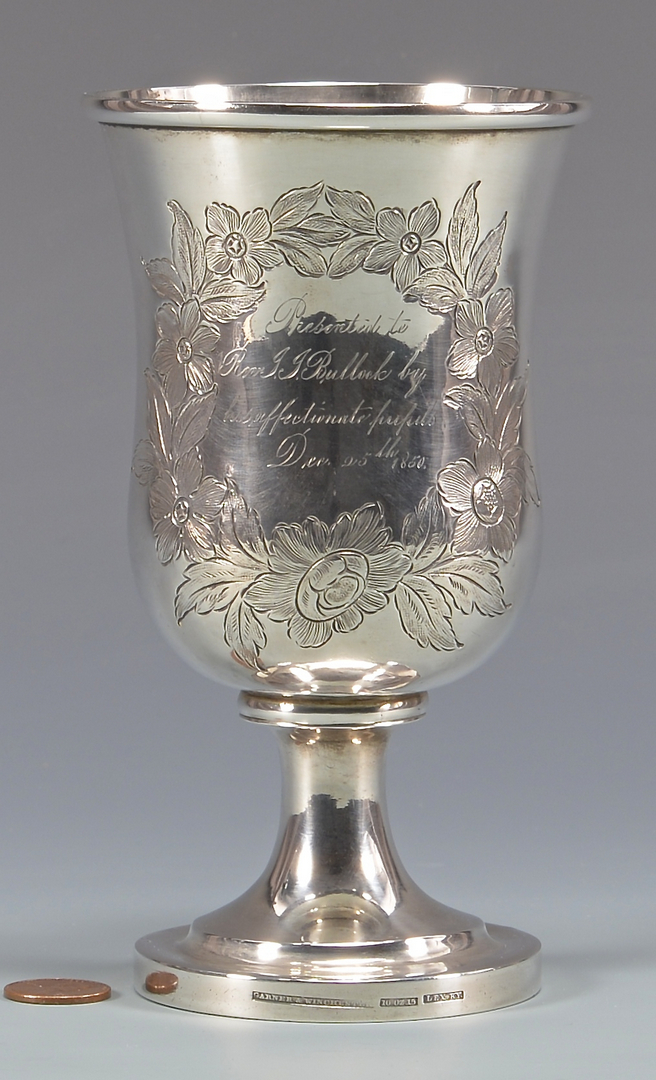 Lot 150 Ky Coin Silver Presentation Chalice Garner And Wi