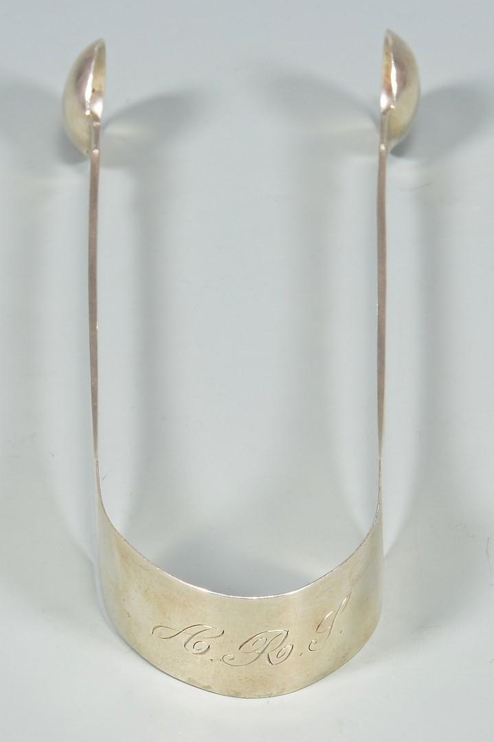 Lot 153: B.B. Marsh KY Coin Silver Tongs