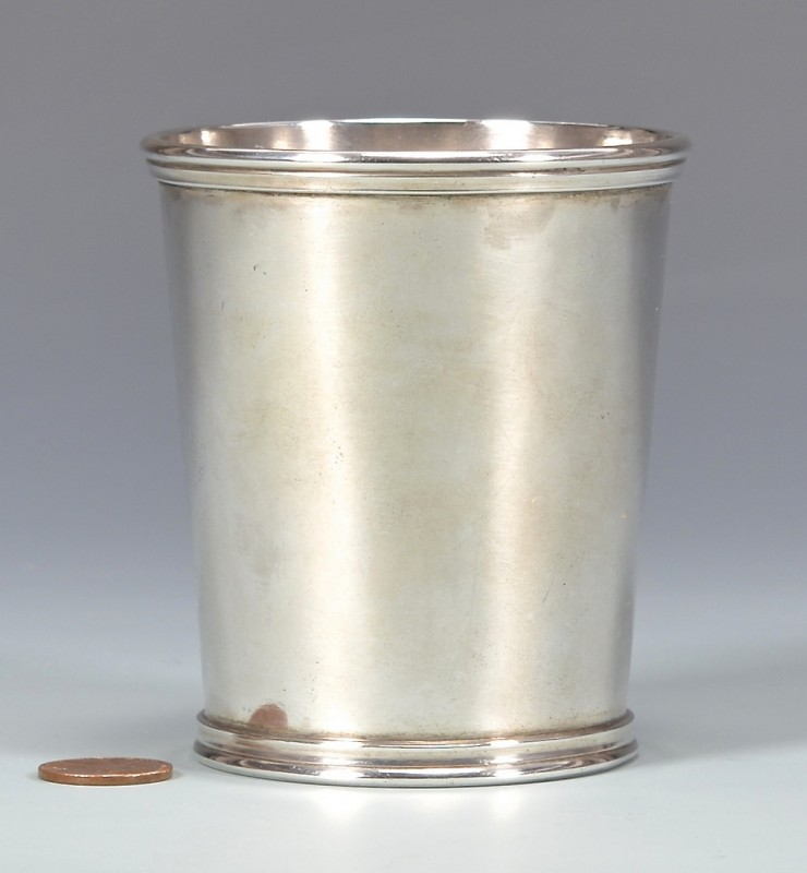 Lot 159: Sharrard KY Coin Silver Julep Cup