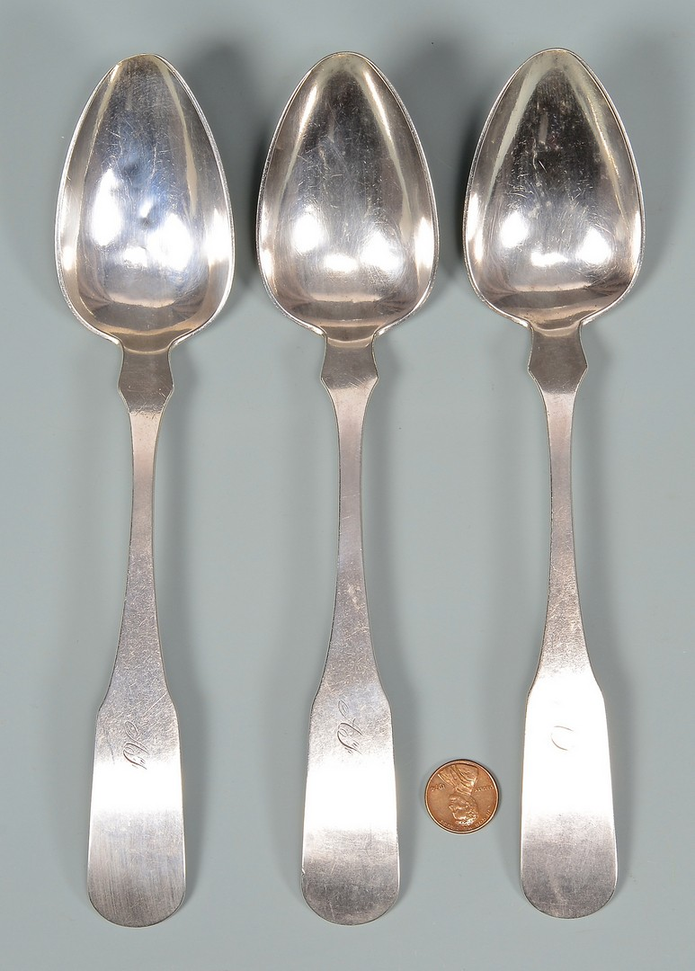 Lot 161: Snyder KY Coin Silver Ladle and Spoons