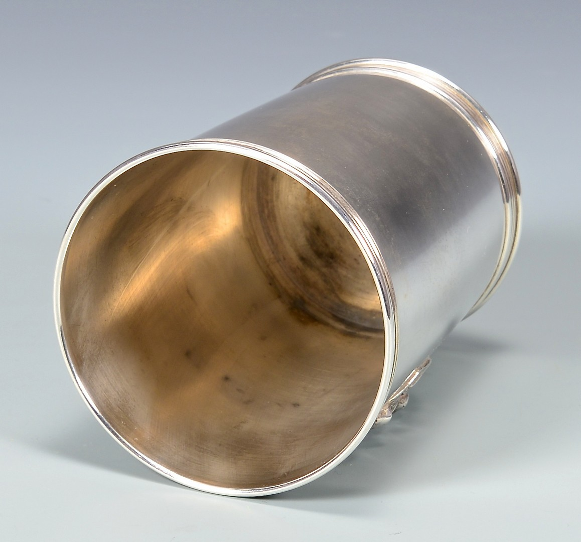 Lot 173: Sterling Julep Cup, Applied Horse Head