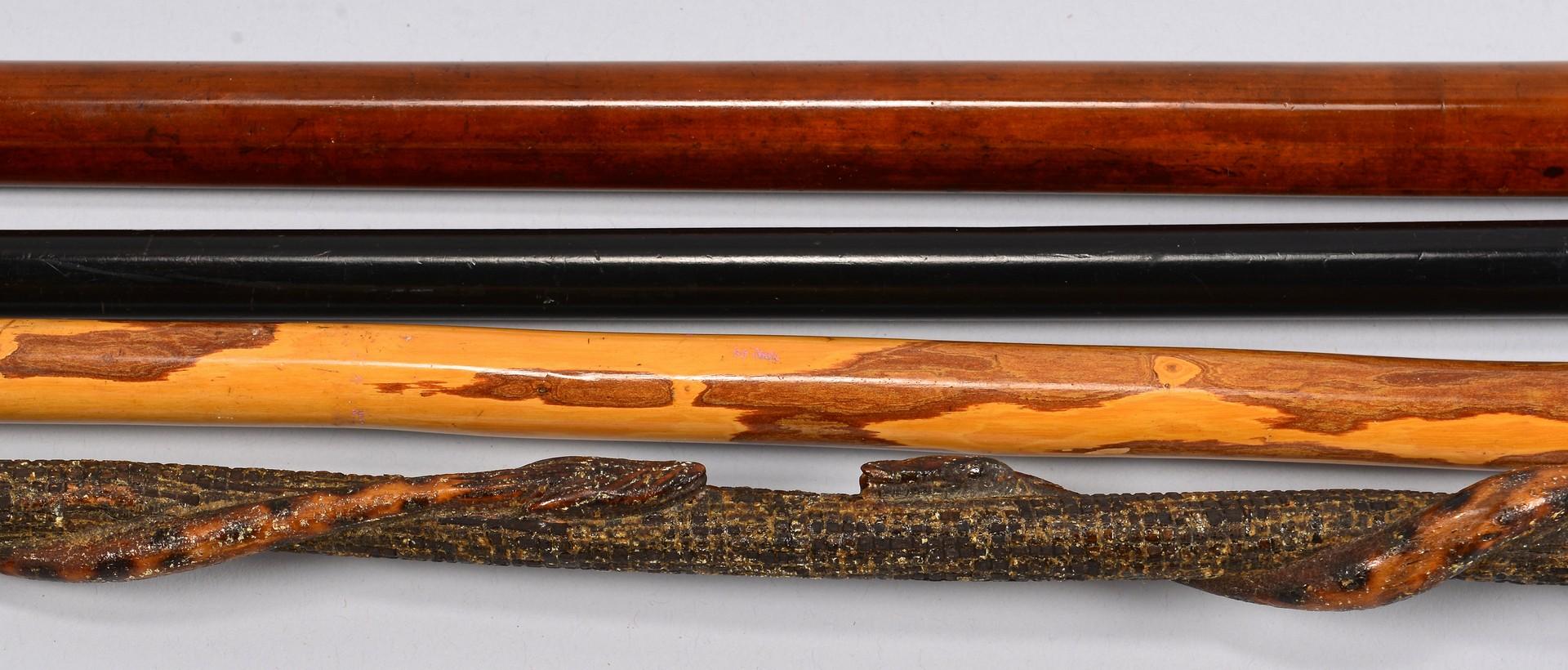 Lot 175: 6 Walking Sticks, sev. Sterling Handles