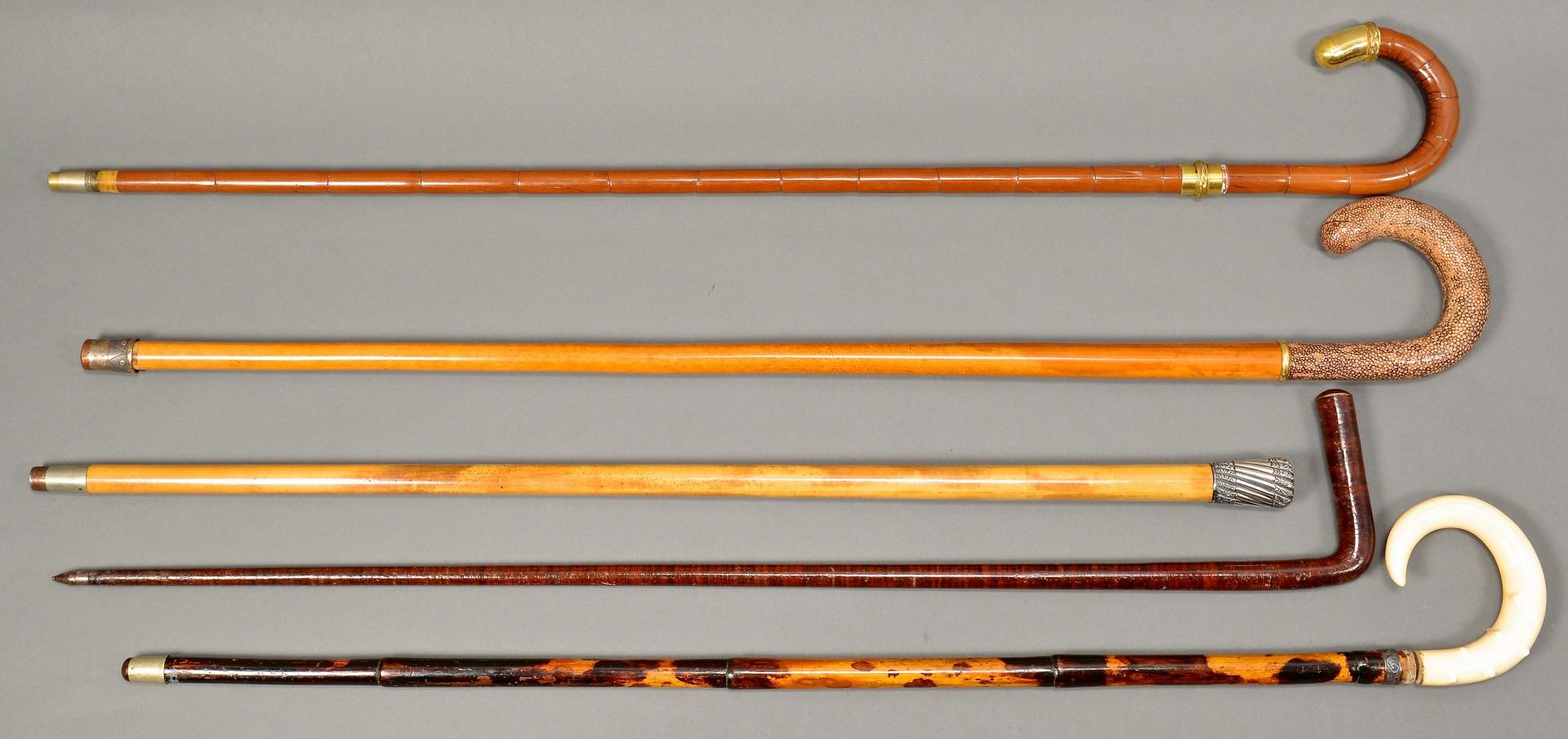 Lot 176: 5 Gentleman's Walking Sticks