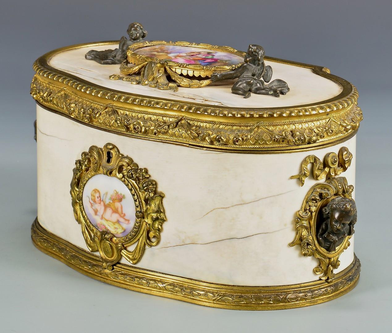 Lot 177: French Dresser Box w/ Bronze Ormolu Mounts