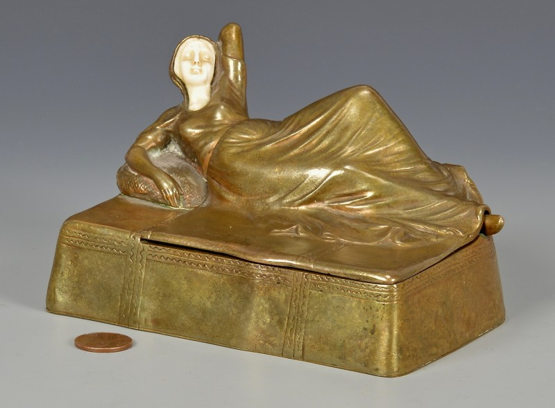 Lot 178: Austrian Erotica Bronze Box