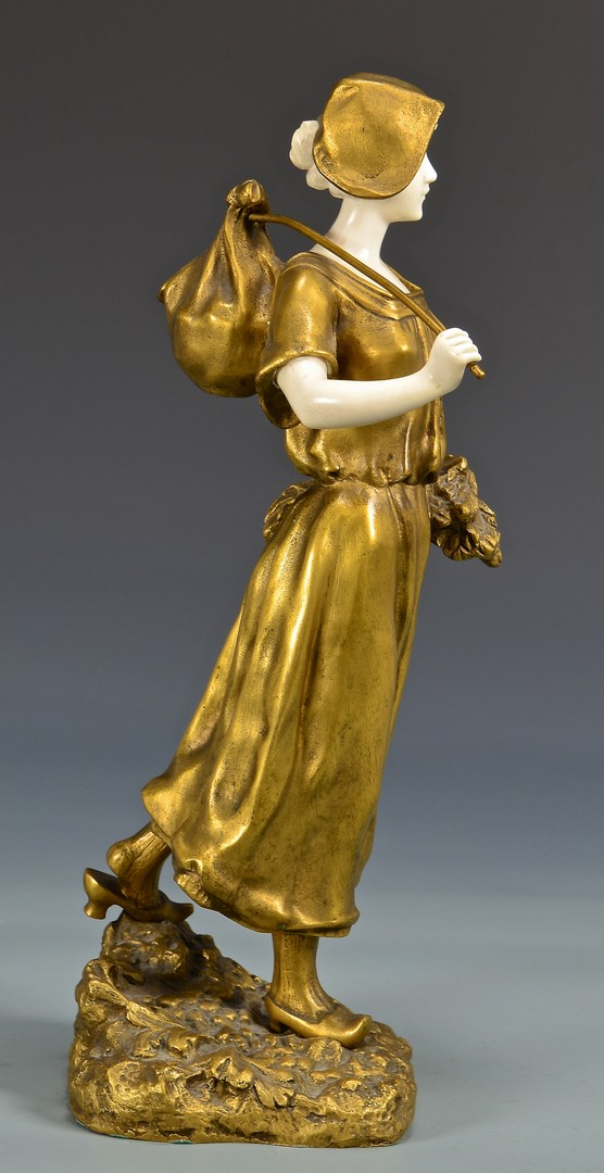 Lot 181: Theophile Somme Bronze and Marble Sculpture