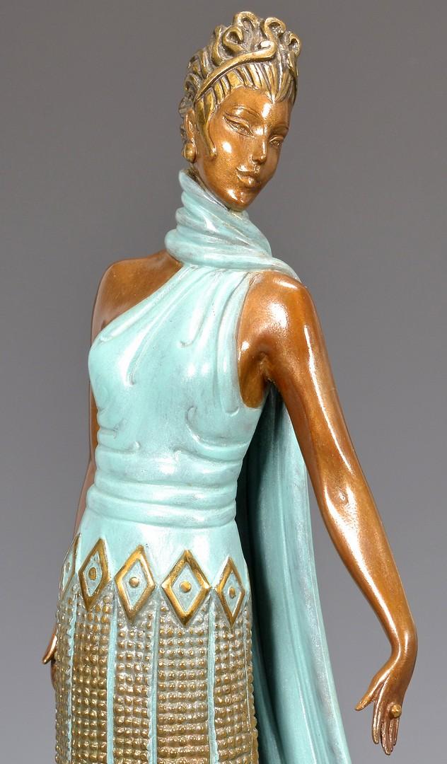 Lot 182: Erte Gilt Painted Bronze, Three Graces