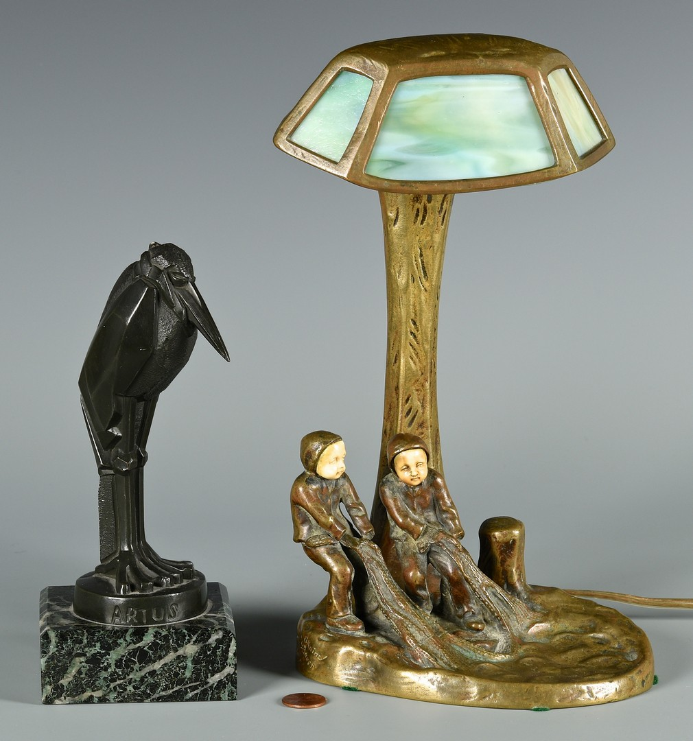 Lot 184: Pair Bronzes by Kainz & Bauer, Artus