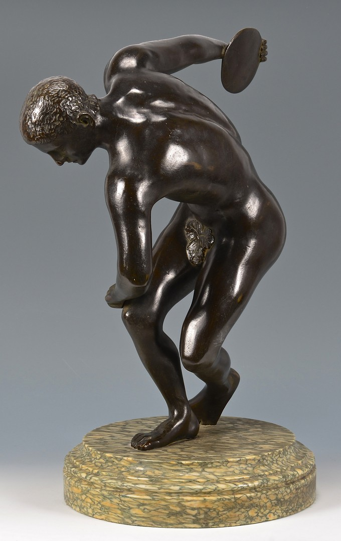 Lot 185: Large Bronze Sculpture of Discus-thrower