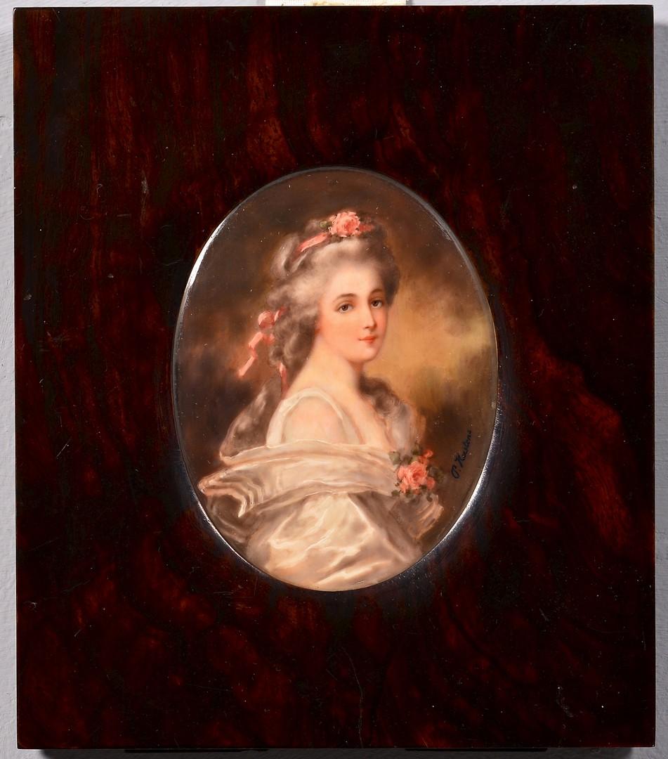 Lot 187: 3 Portrait Miniatures of Females