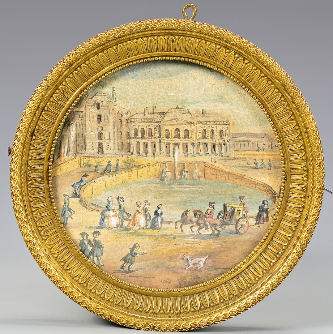 Lot 188: 2 French Themed Miniature Paintings