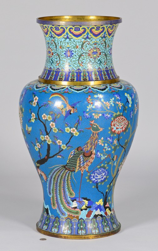 Lot 18: Chinese Palace Size Cloisonne Vase