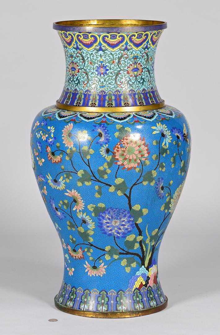Lot 18 Chinese Palace Size Cloisonne Vase