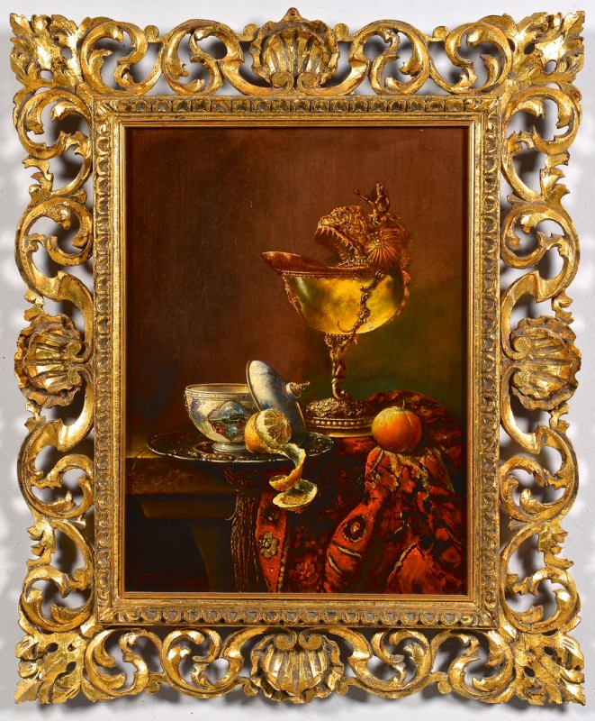 Lot 190: F.V. Knapp Oil on board Still Life