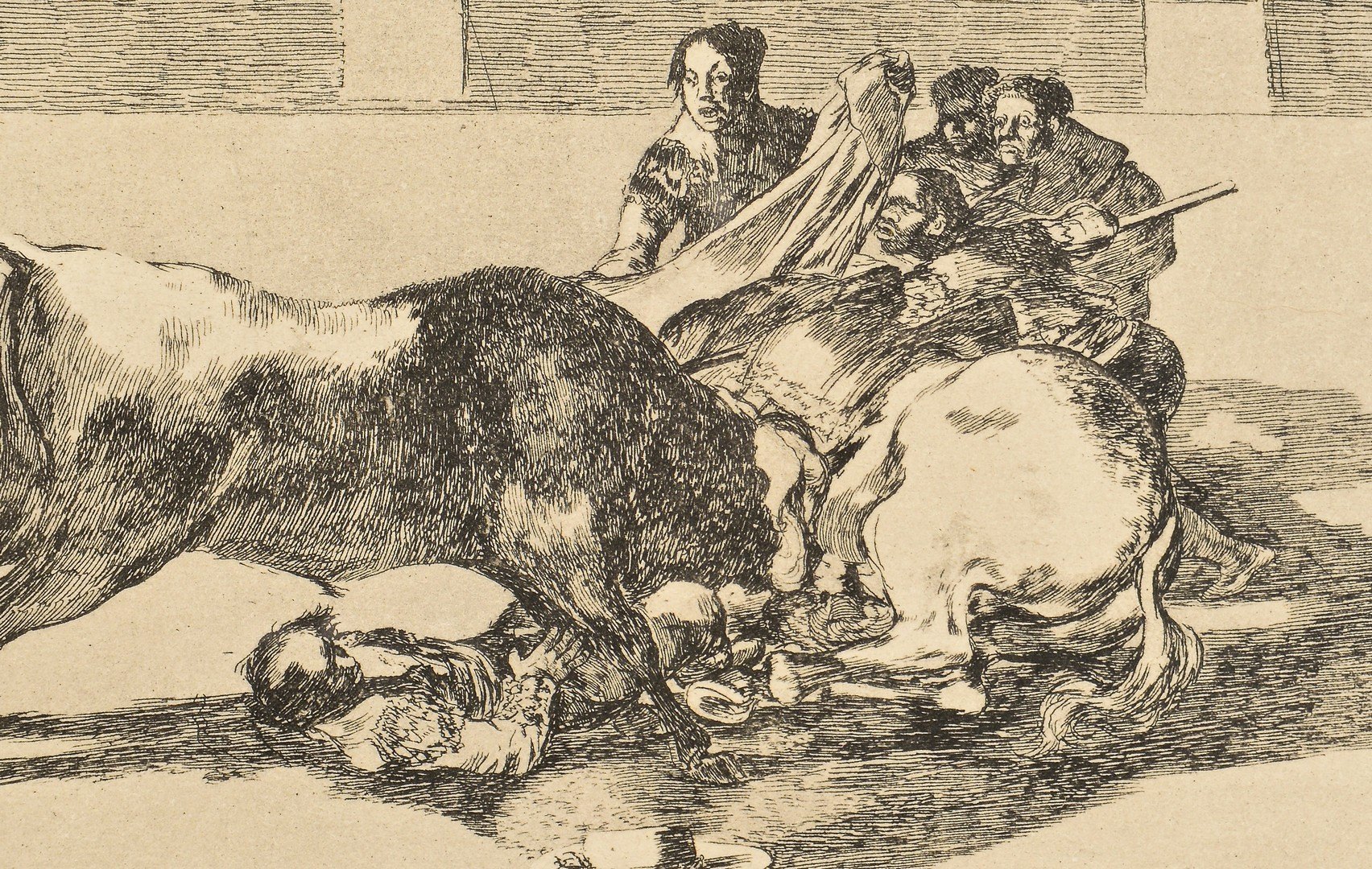 Lot 192: Goya Etching #26 from La Tauromaquia Series