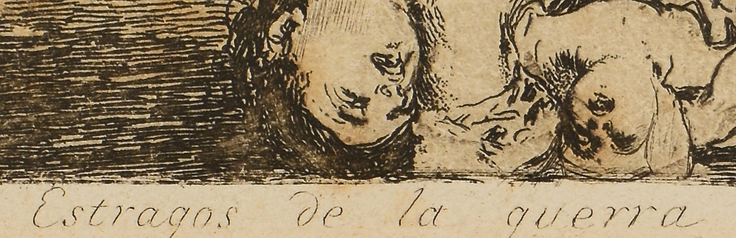 Lot 193: Goya Etching, #30 from The Disasters of War Series