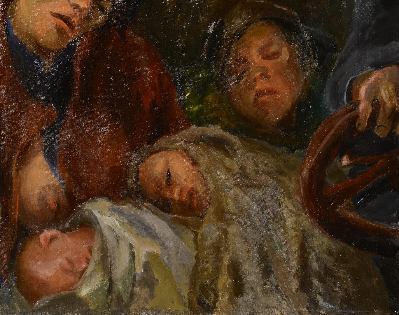 "Lot 195: Sarah Blythe Beatty Oil on canvas titled ""Steubenv"
