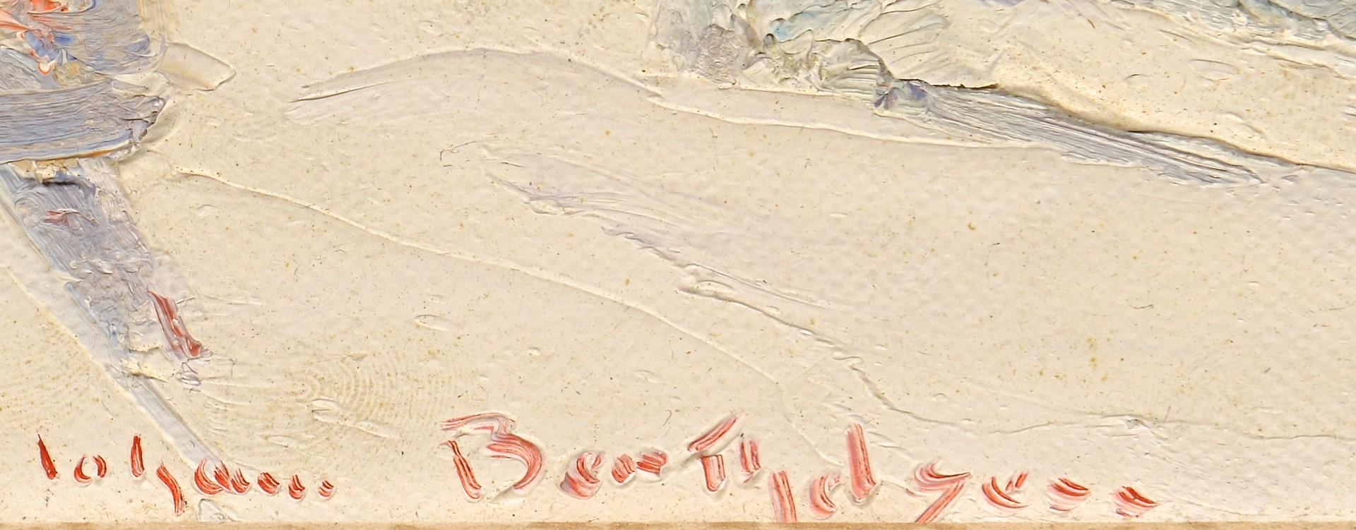 Lot 196: Johann Berthelsen O/C, New York Snow Scene