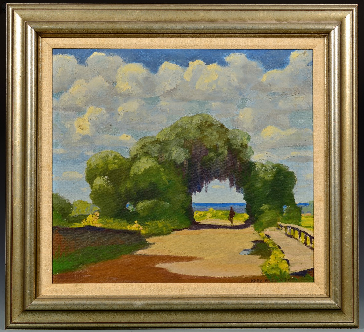 Lot 197: John Kelly Fitzpatrick Oil on Canvas Landscape