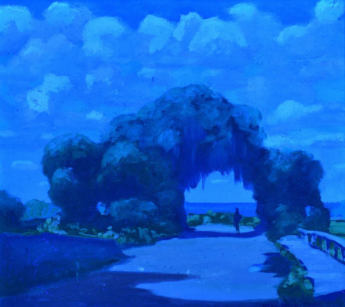 Lot 197: John Kelly Fitzpatrick Oil on Canvas Landscape