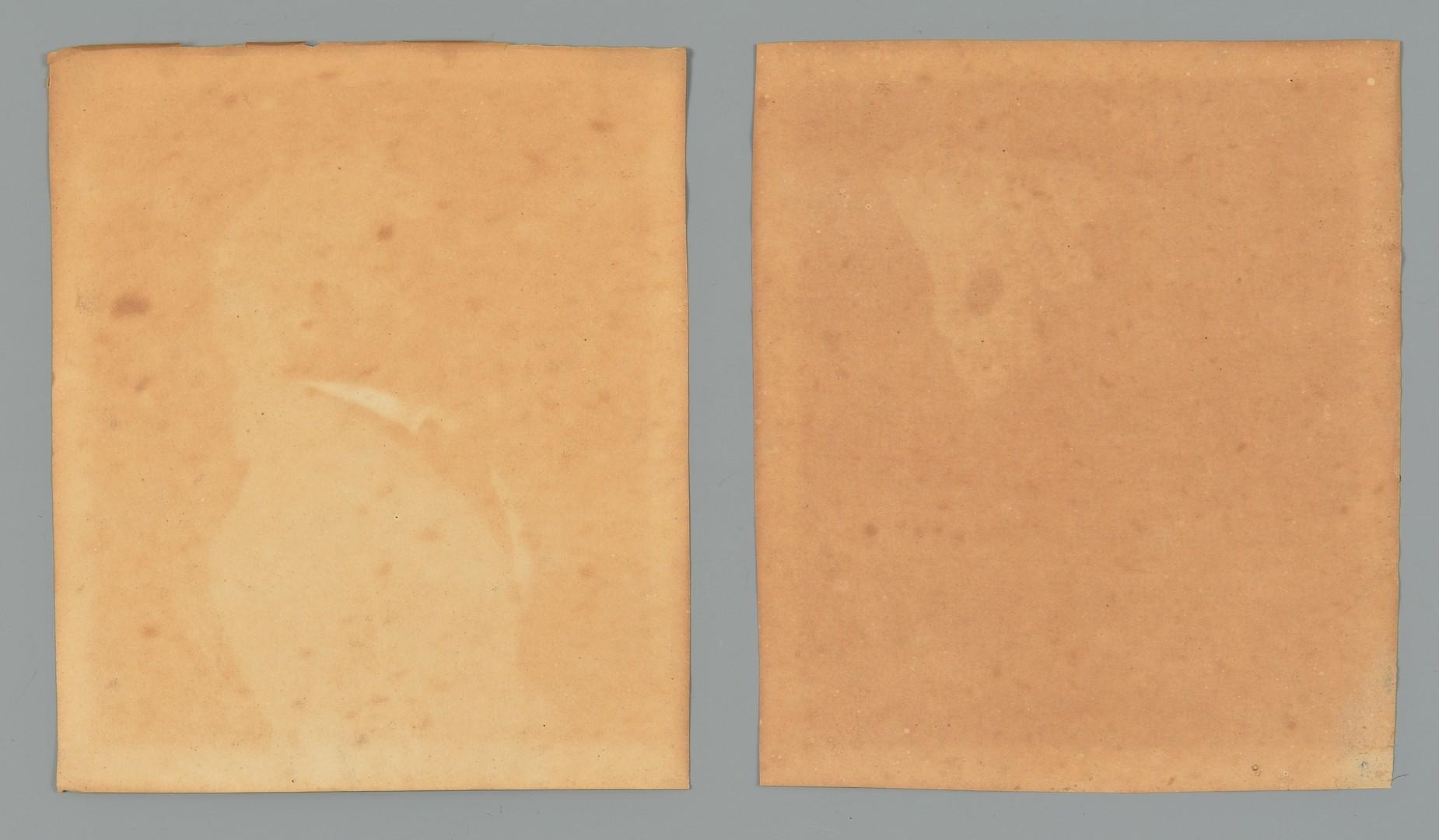 Lot 198: Pair VA Charcoal Profile Portraits, attrib. Charle