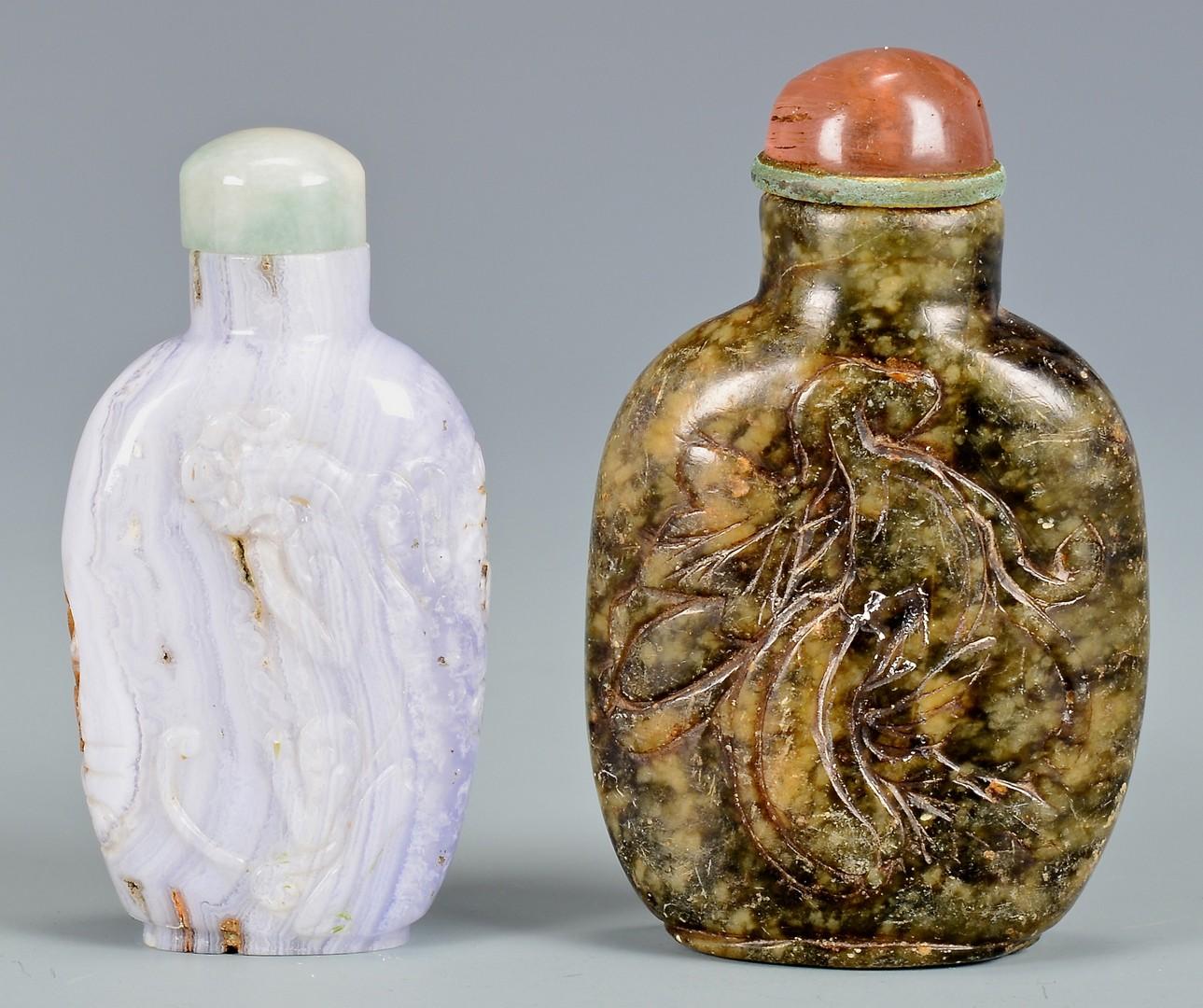 Lot 1: 3 Chinese Snuff Bottles inc. Cicada