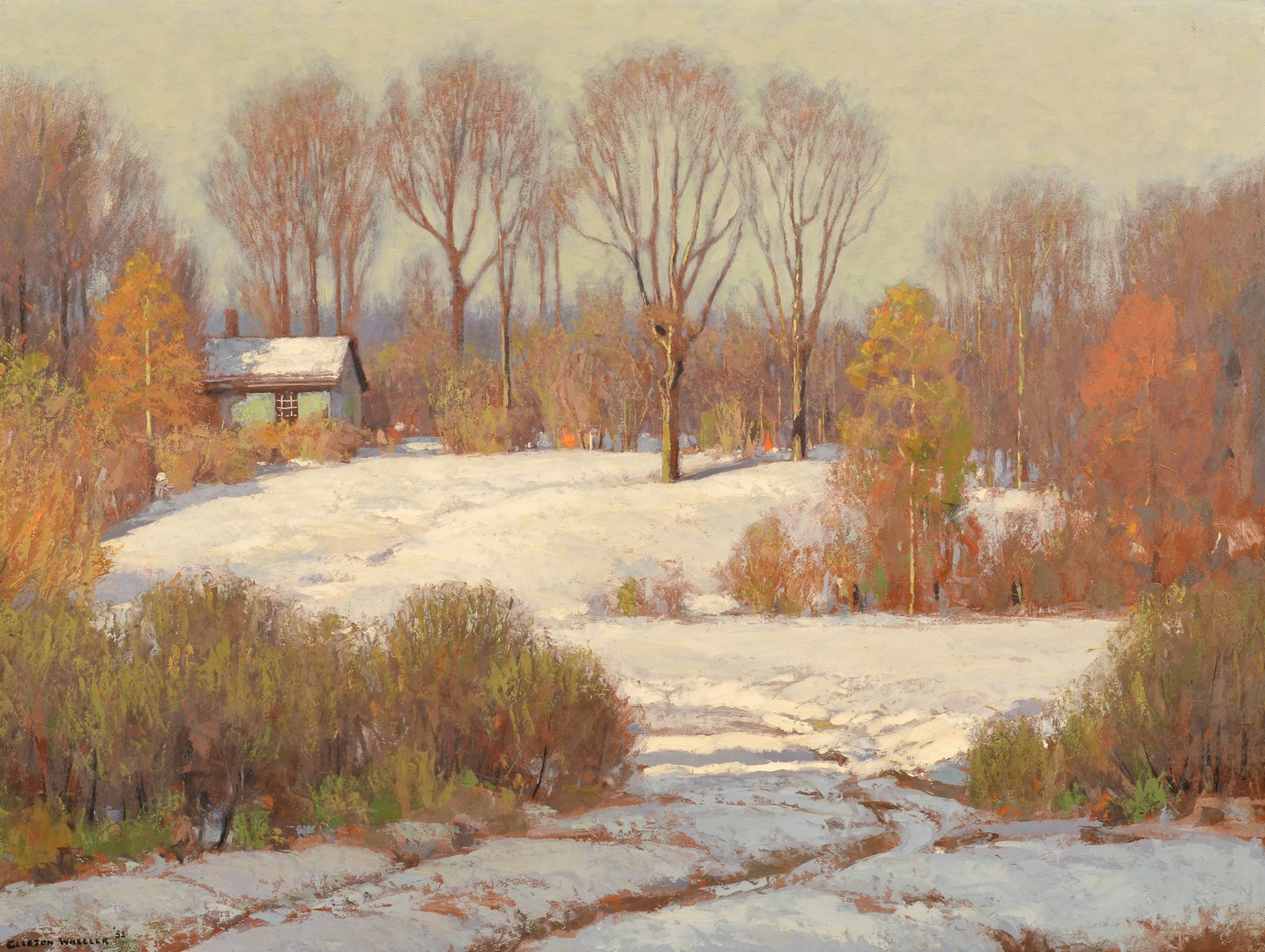 Lot 204: Clifton Wheeler O/B Landscape, First Snow