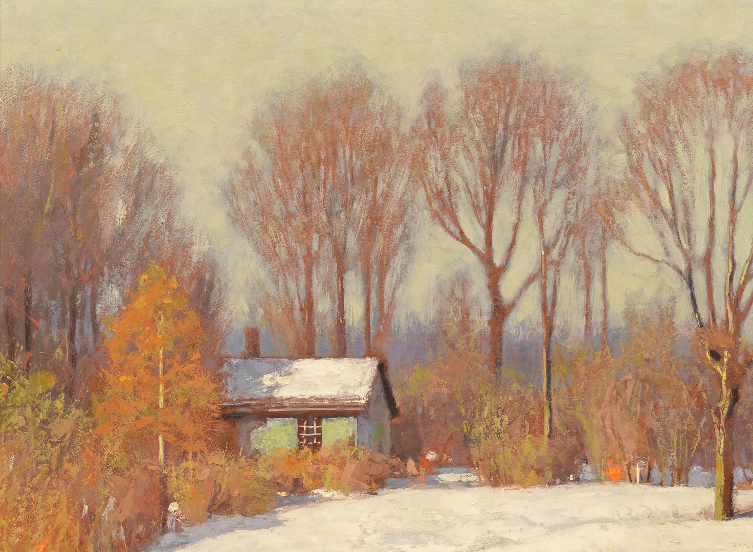 Lot 204 Clifton Wheeler O B Landscape First Snow