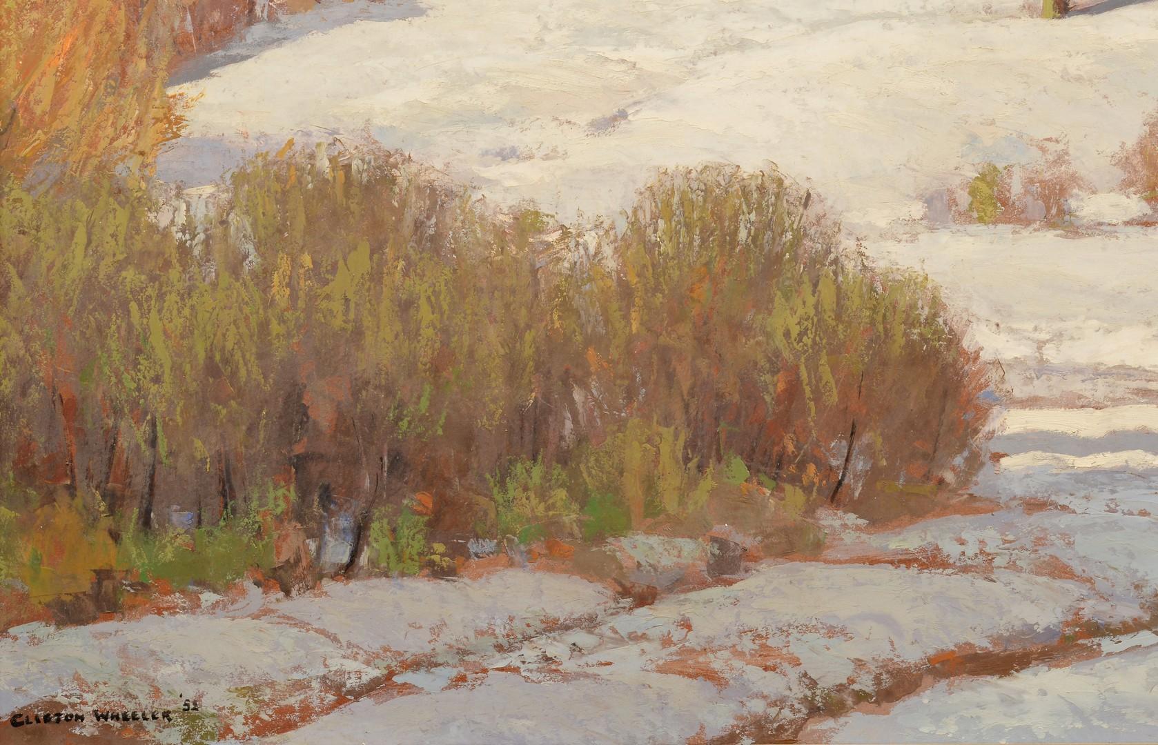 Lot 204: Clifton Wheeler O/B Landscape, First Snow