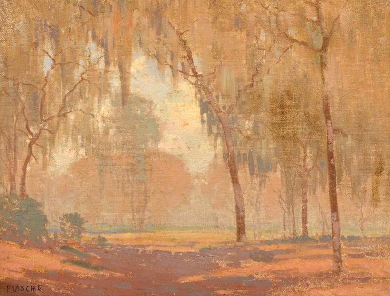 Lot 205: Paul Albert Plaschke O/C Landscape Scene