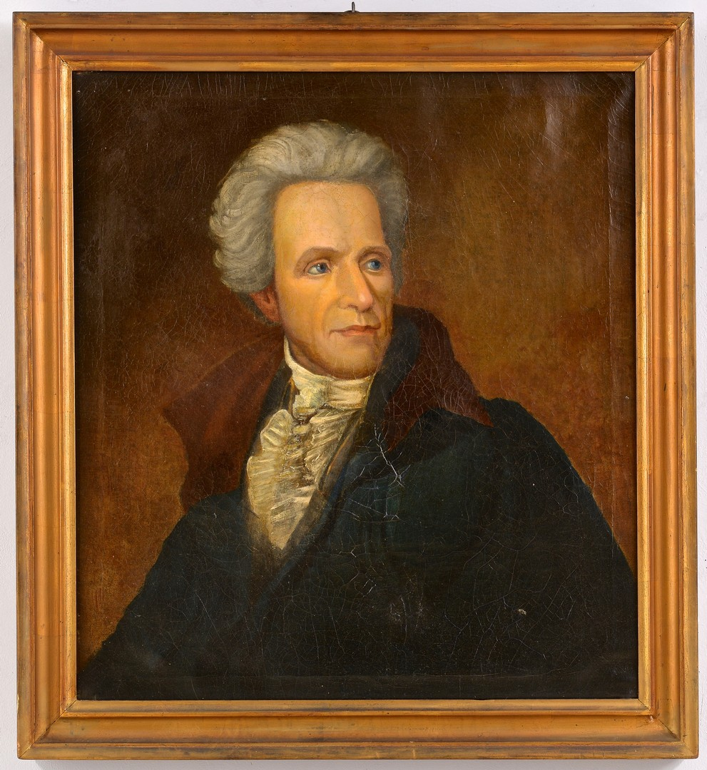 Lot 210: Portrait of Andrew Jackson, O/C