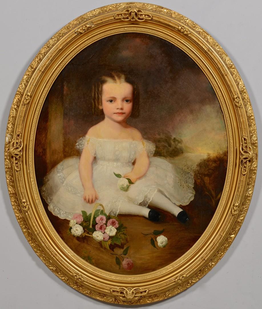 Lot 211: Attr. Cooper child portrait, Hetty McEwen