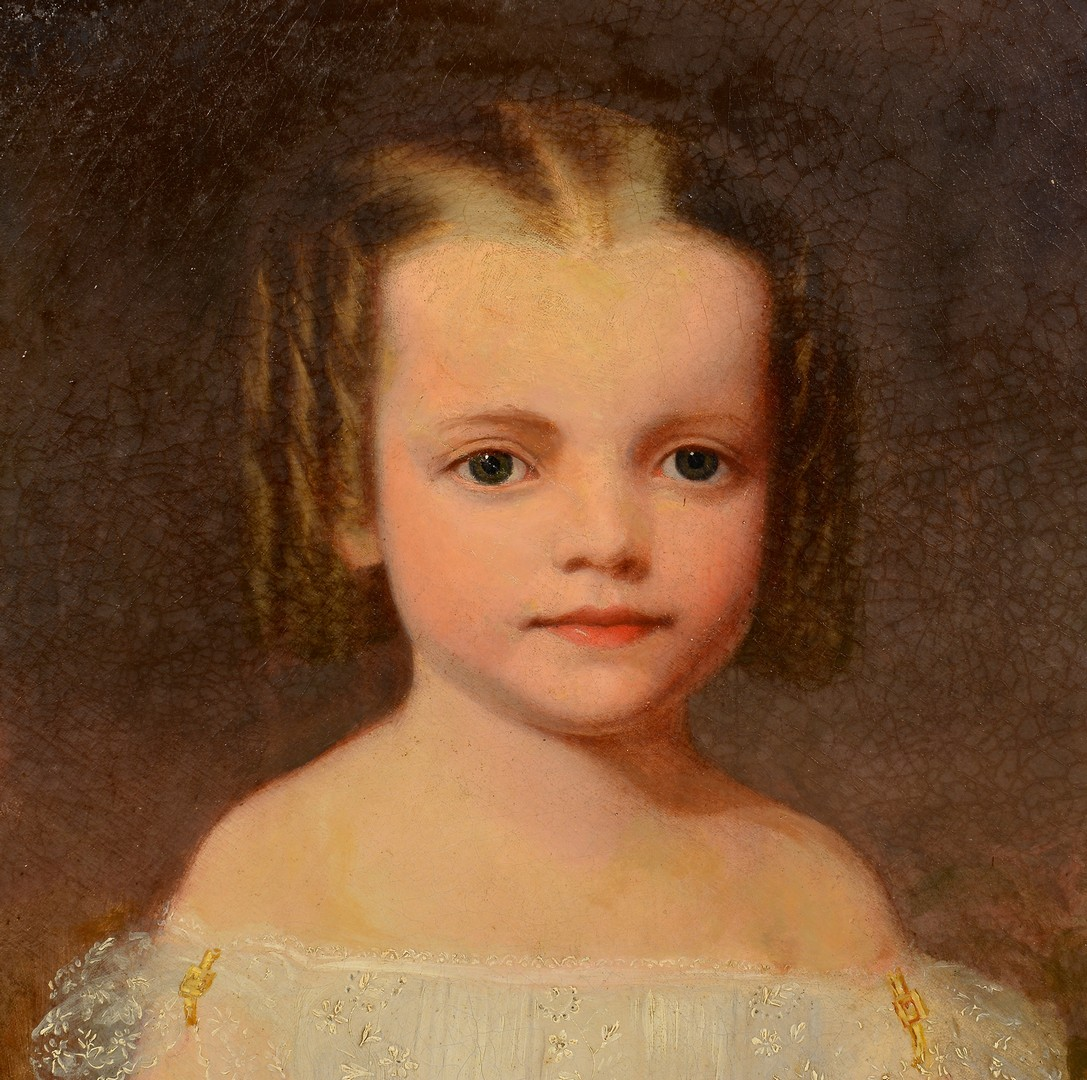 Lot 211: Attr. Cooper child portrait, Hetty McEwen