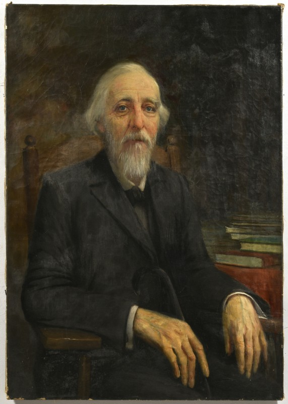 Lot 214: Older Gentleman Portrait, Attr. Lloyd Branson