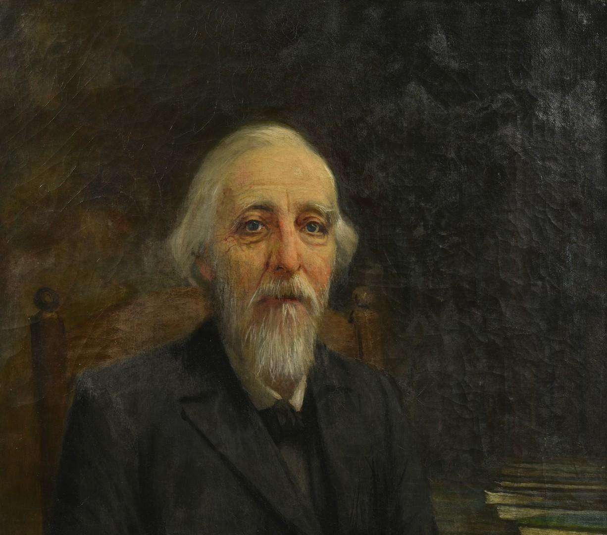 Lot 214: Older Gentleman Portrait, Attr. Lloyd Branson